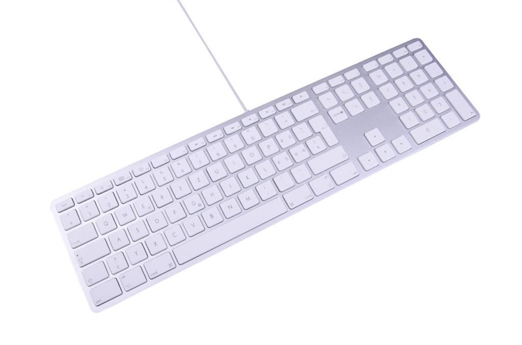 LMP kabelgebundene USB Tastatur silber Deutsch