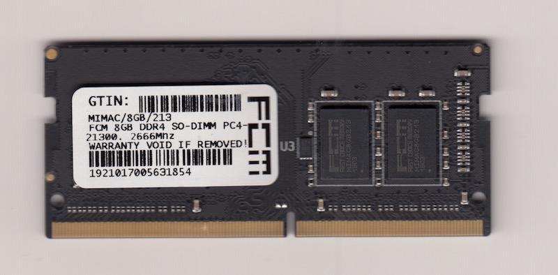 FCM 8GB DDR4 SO-DIMM PC4-21300, 2666Mhz